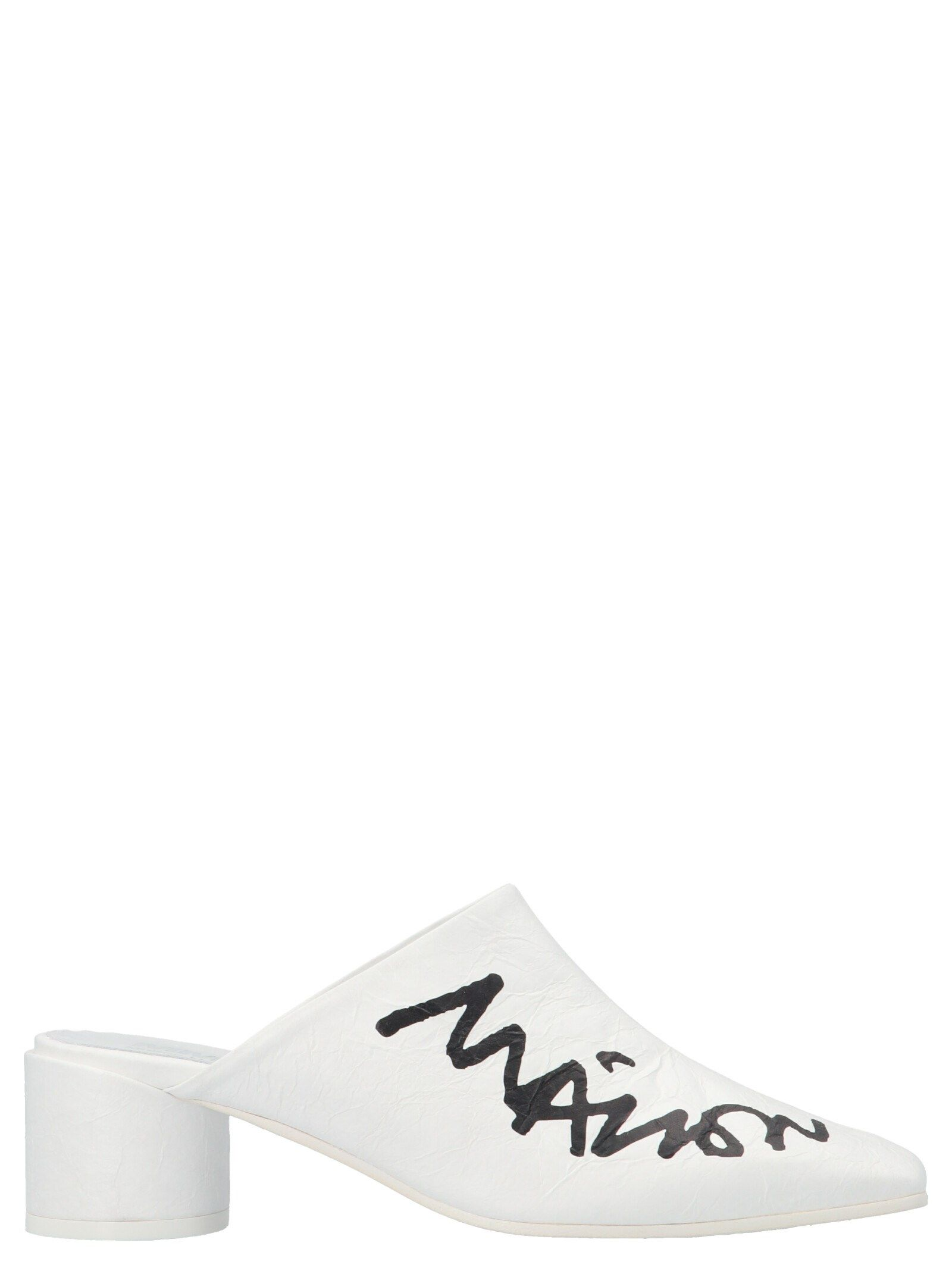 Maison Margiela MAISON MARGIELA WOMEN'S WHITE LEATHER SANDALS