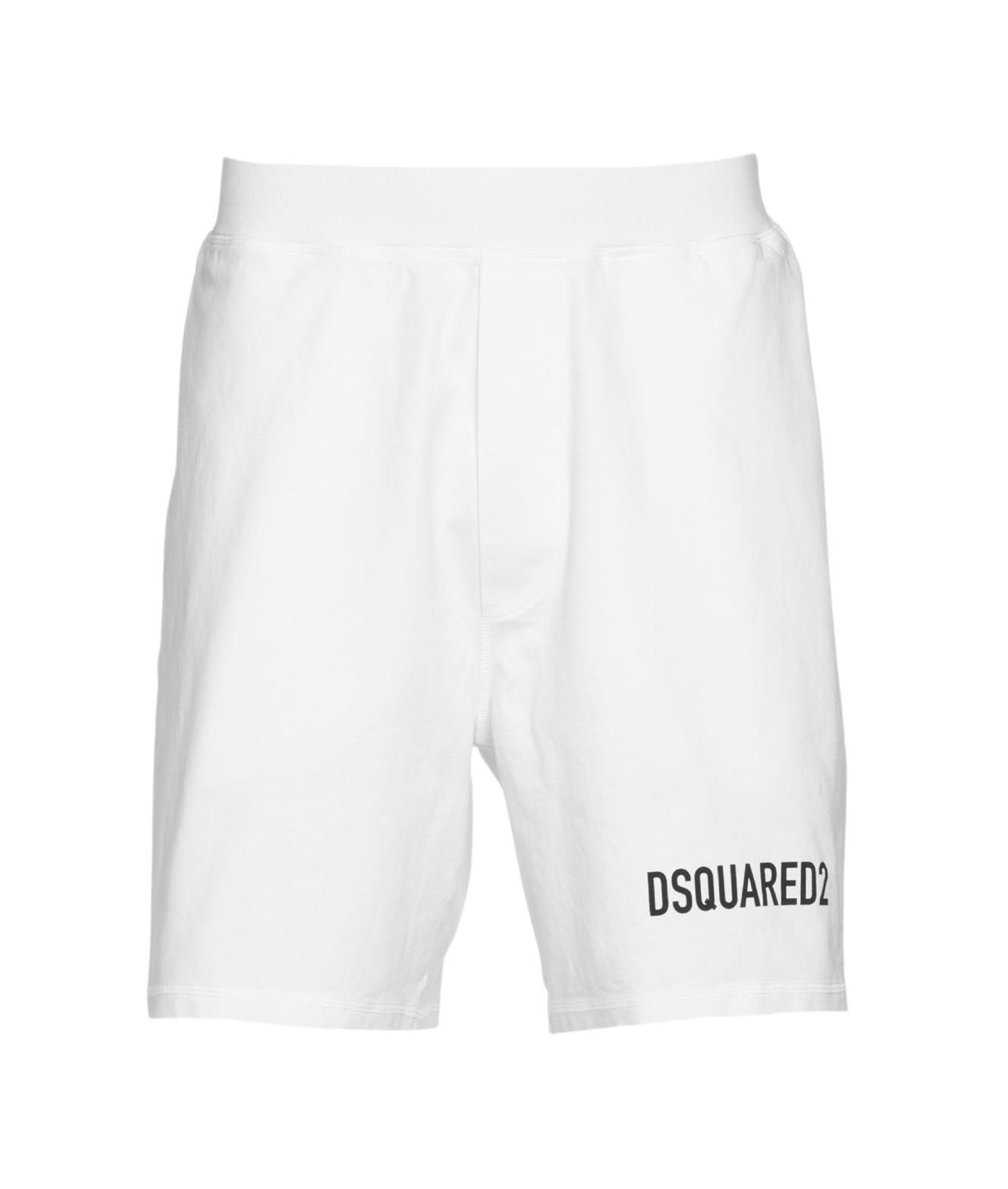 Dsquared2 Shorts DSQUARED2 MEN'S WHITE OTHER MATERIALS SHORTS
