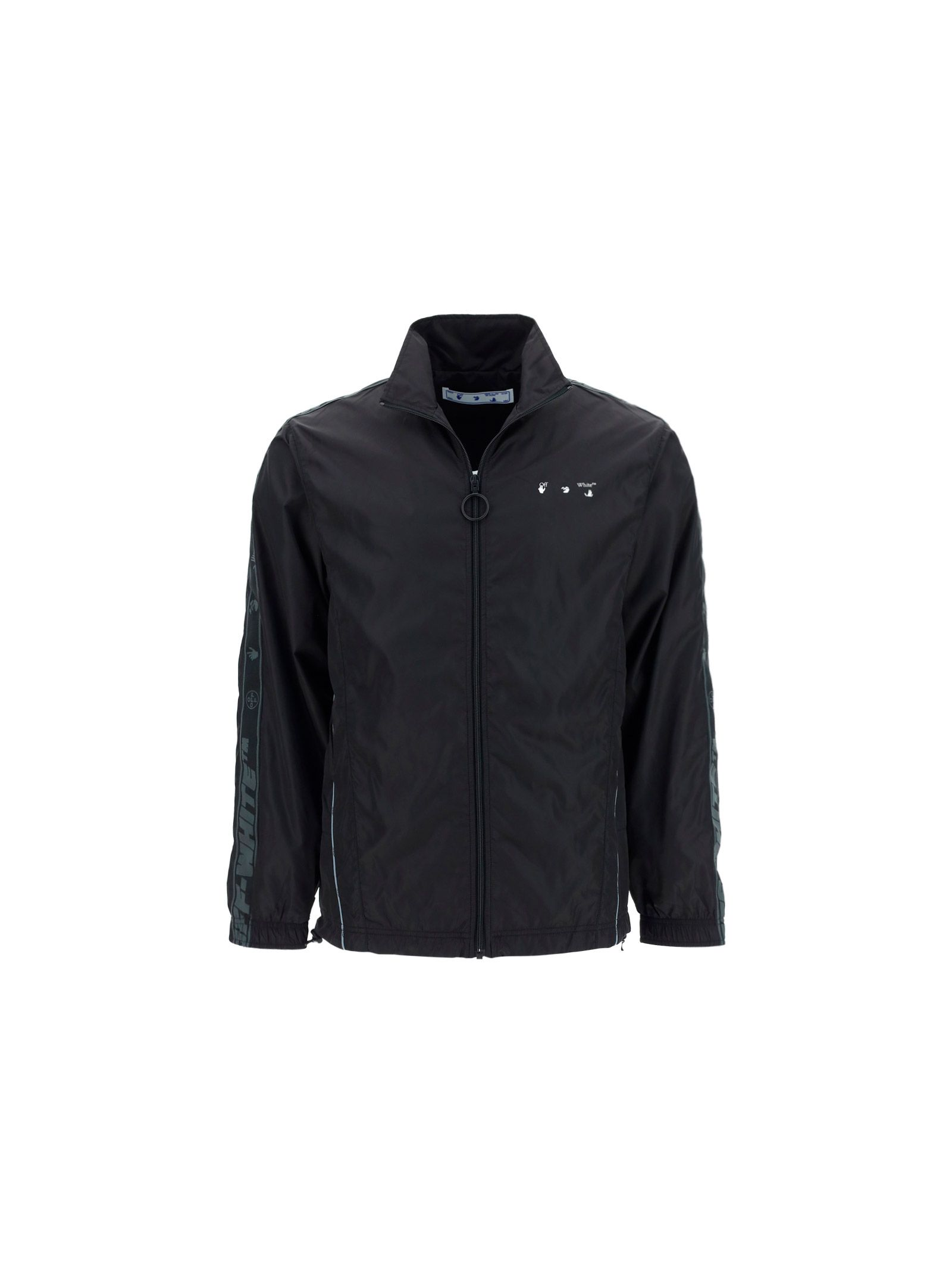 Off-White Jackets OFF-WHITE MEN'S BLACK OTHER MATERIALS OUTERWEAR JACKET