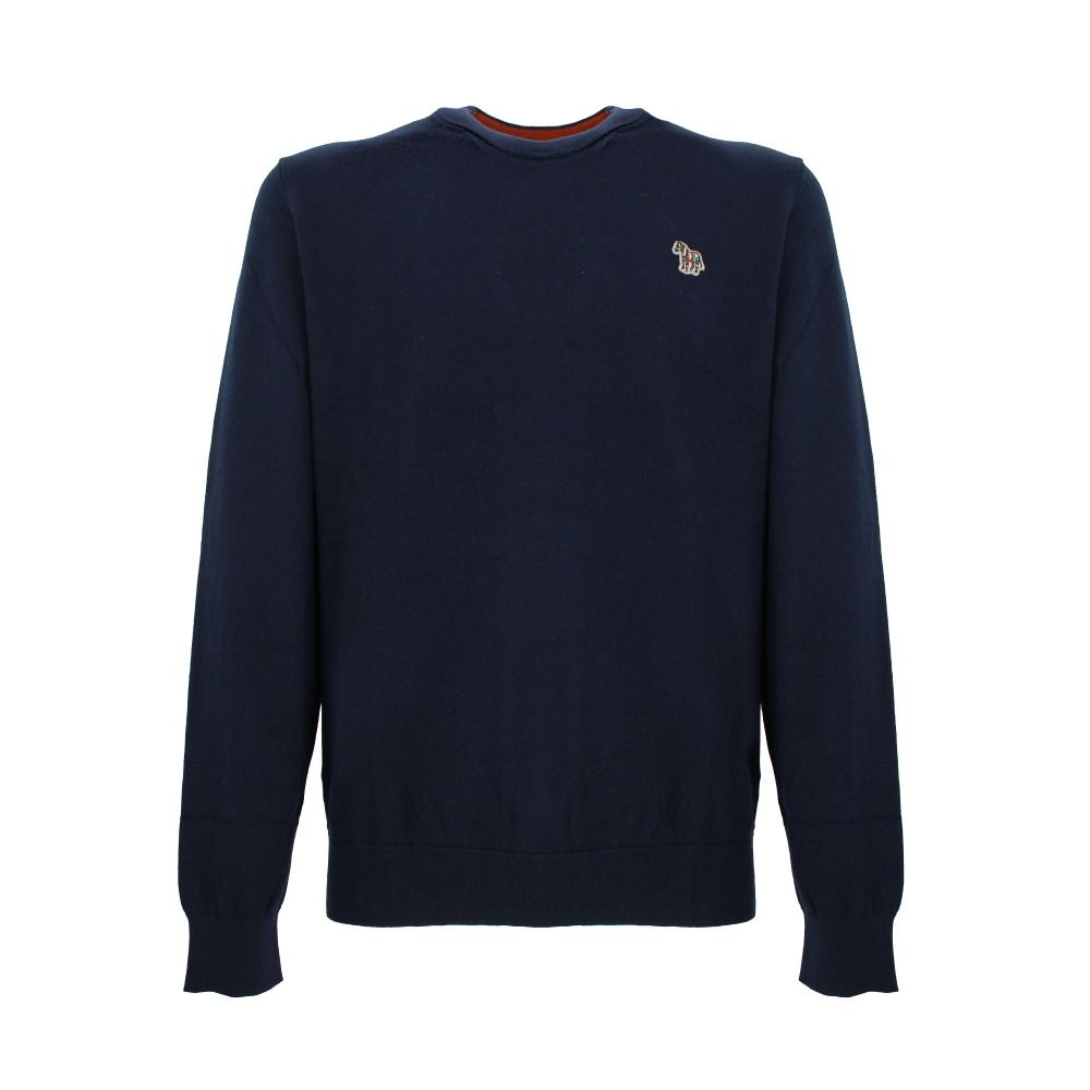 Paul Smith PAUL SMITH MEN'S BLUE COTTON SWEATER