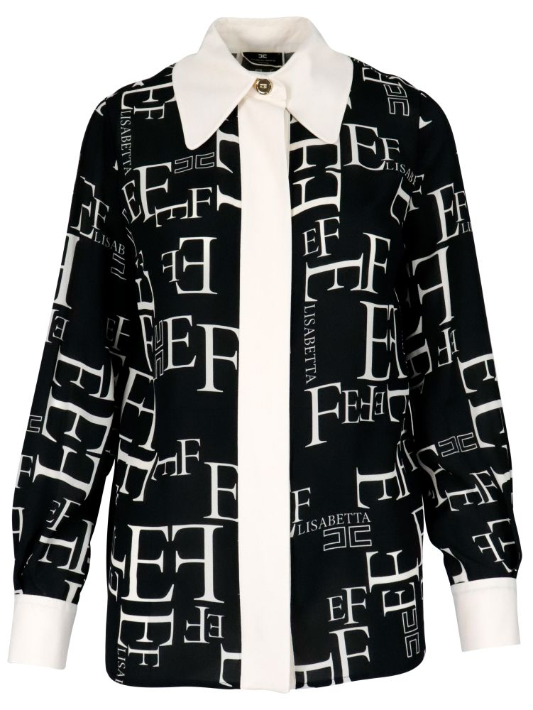 Elisabetta Franchi ELISABETTA FRANCHI WOMEN'S BLACK OTHER MATERIALS SHIRT