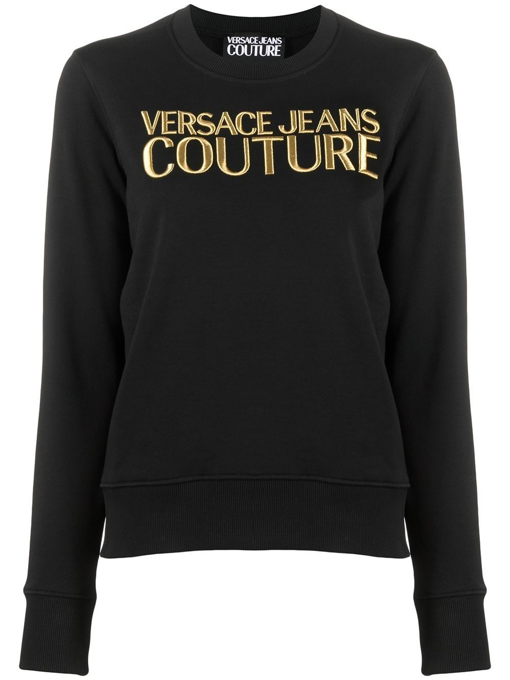 Versace Jeans Cottons VERSACE JEANS WOMEN'S BLACK COTTON SWEATSHIRT