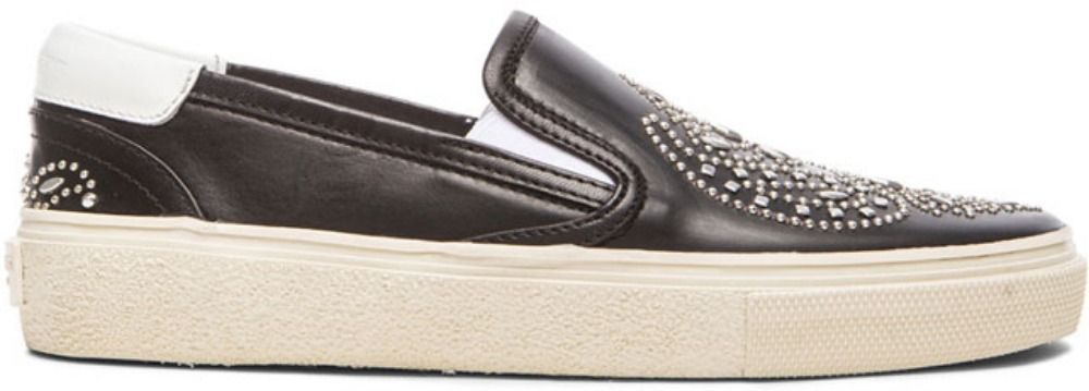Saint Laurent Black Slip On Sneakers