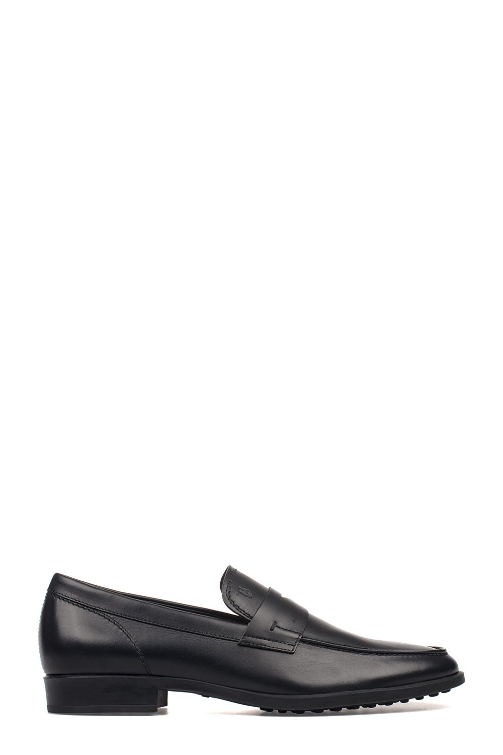 Tod's Penny Loafer D00640 Smooth Leather Logo Black