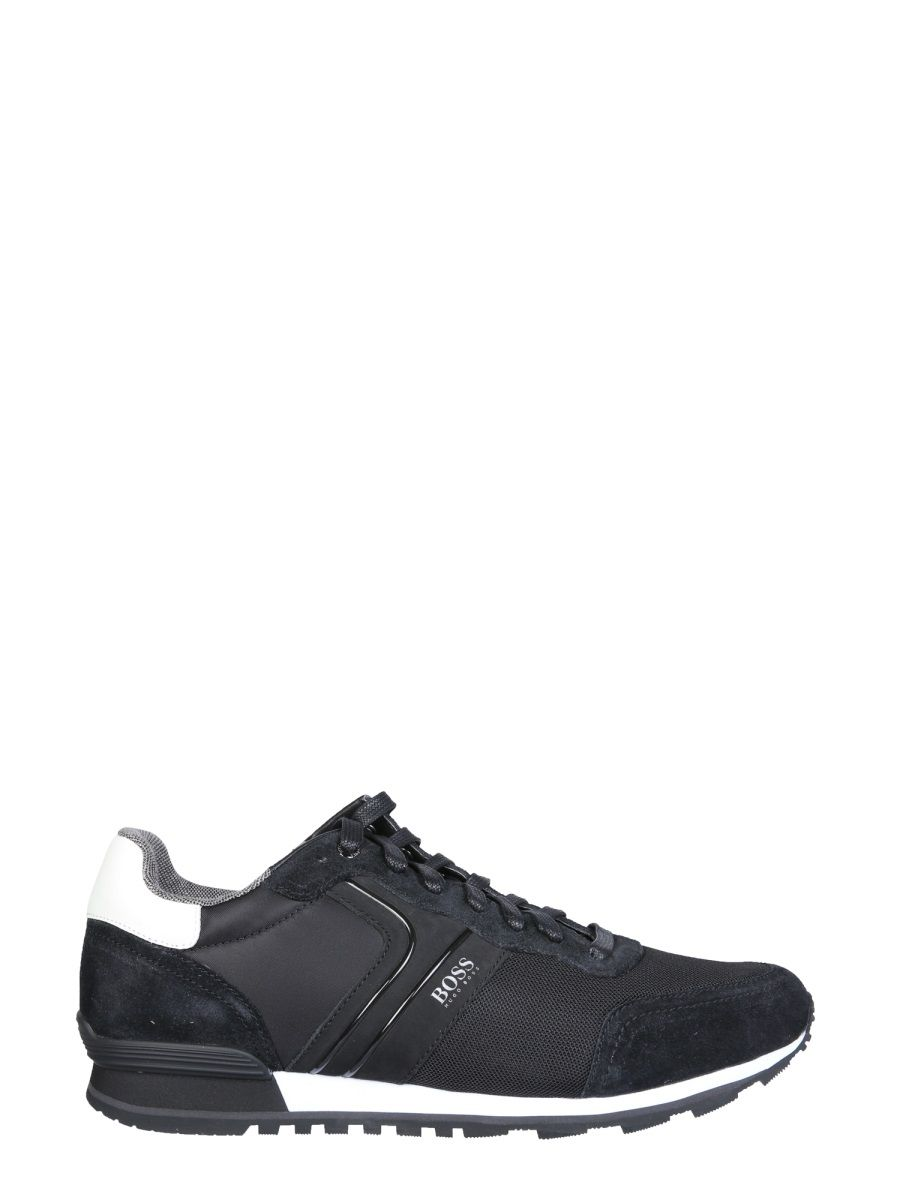 Hugo Boss HUGO BOSS MEN'S BLACK OTHER MATERIALS SNEAKERS
