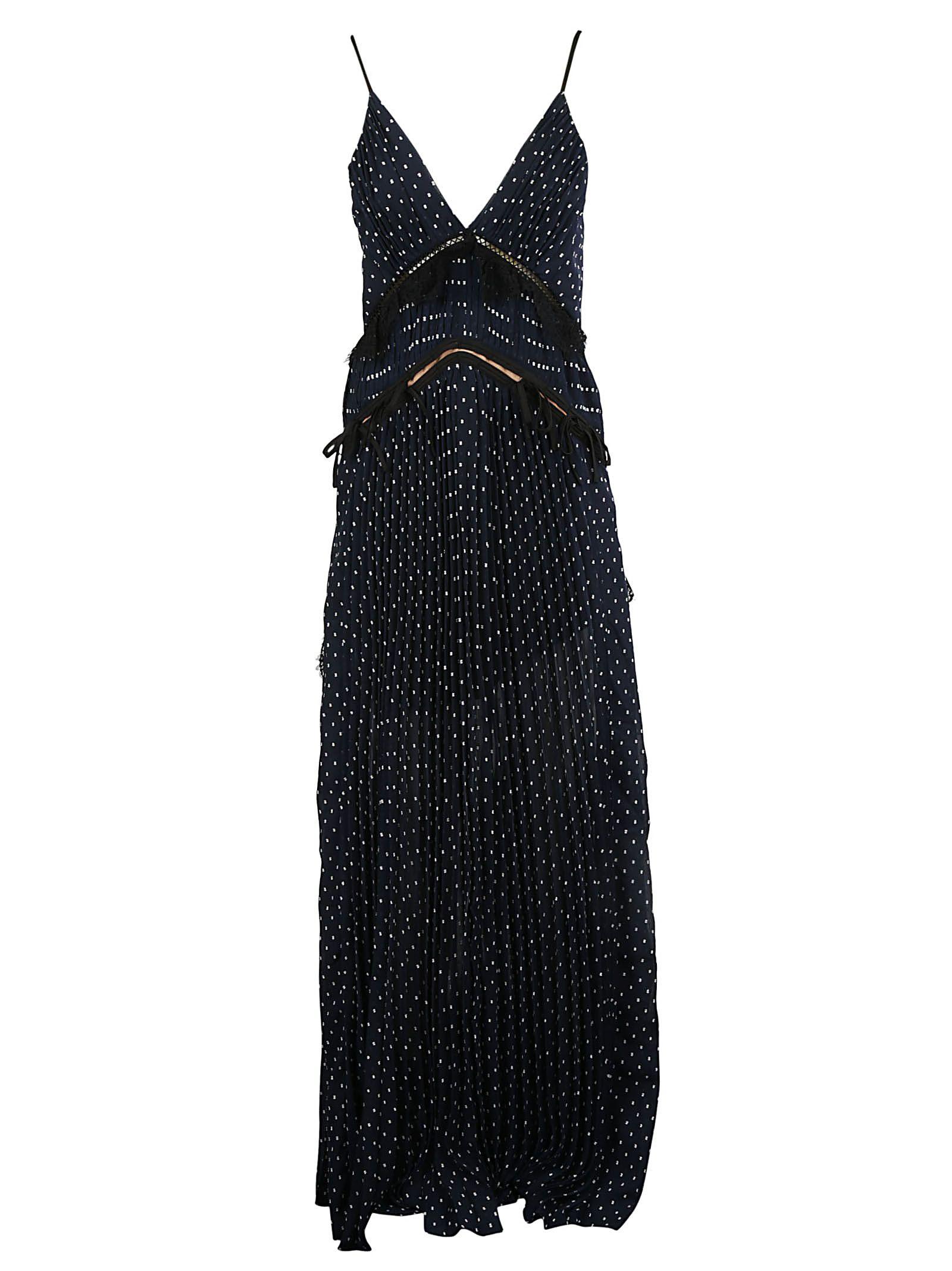 9f55f3aff664 Self-Portrait Women's Sp17019Navy Blue Polyester Dress   ModeSens