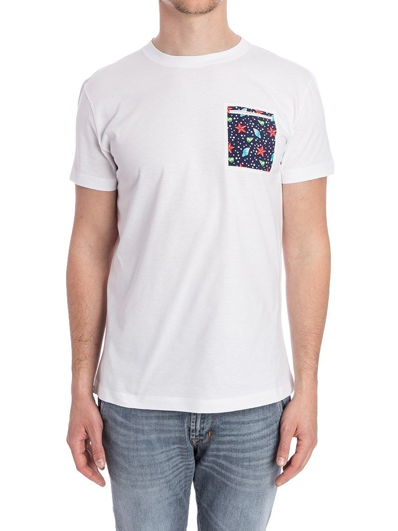 RODA WHITE COTTON T-SHIRT,00014052