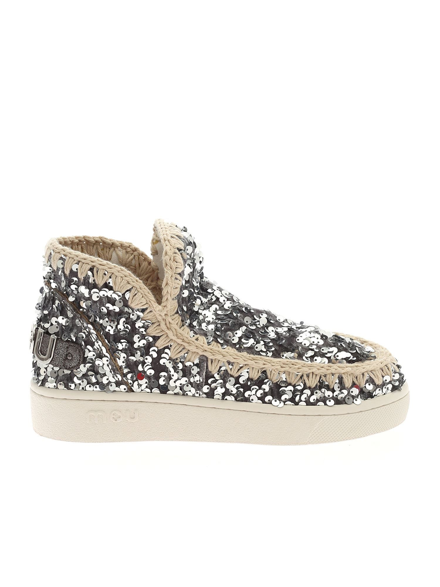 Mou Women's Silver Other Materials Ankle Boots