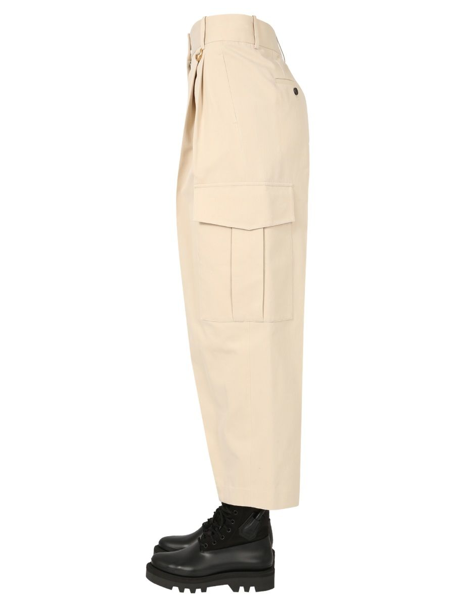 GIVENCHY Cottons GIVENCHY WOMEN'S WHITE OTHER MATERIALS PANTS