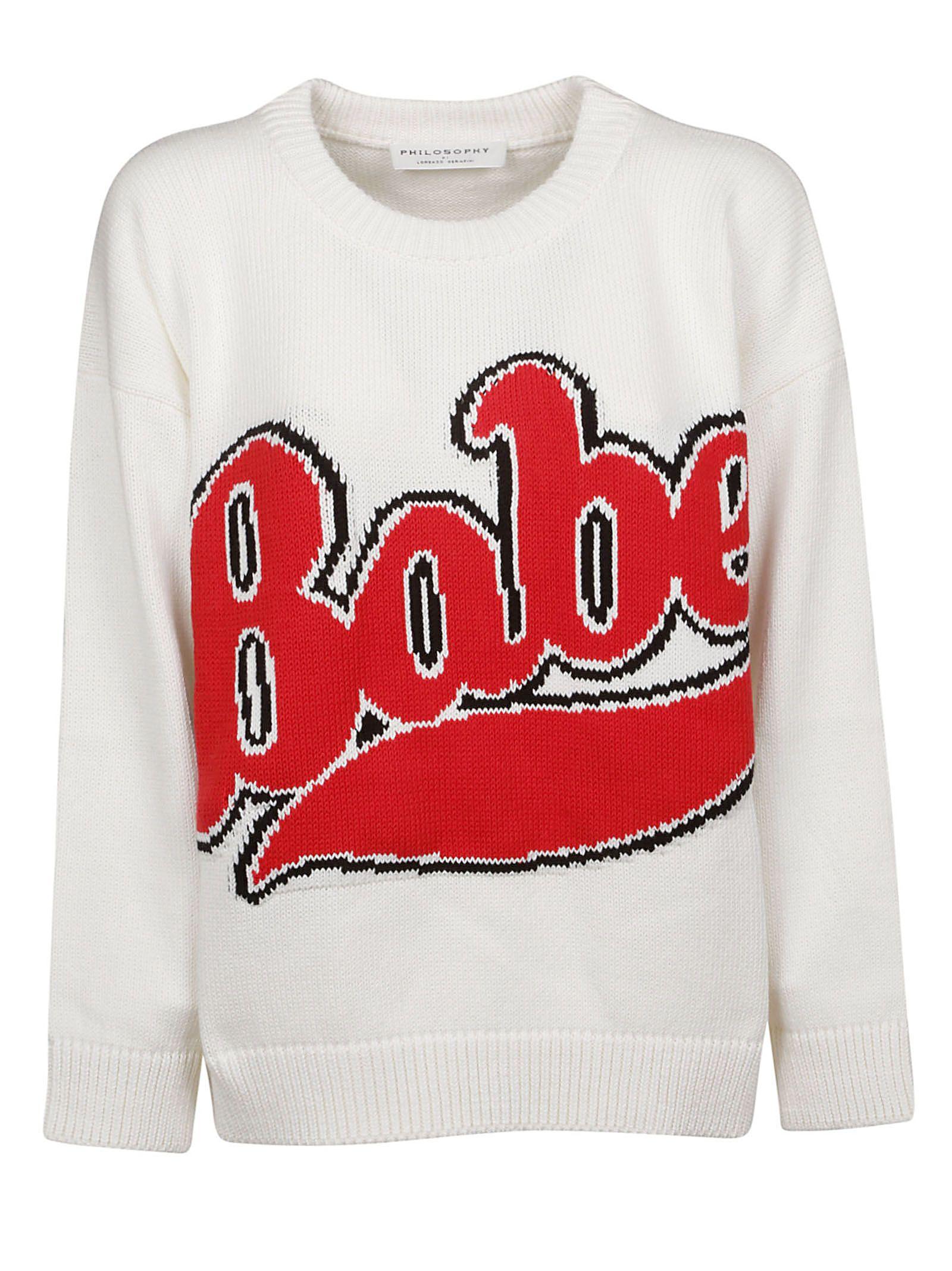 Philosophy Women's White Cotton Sweater