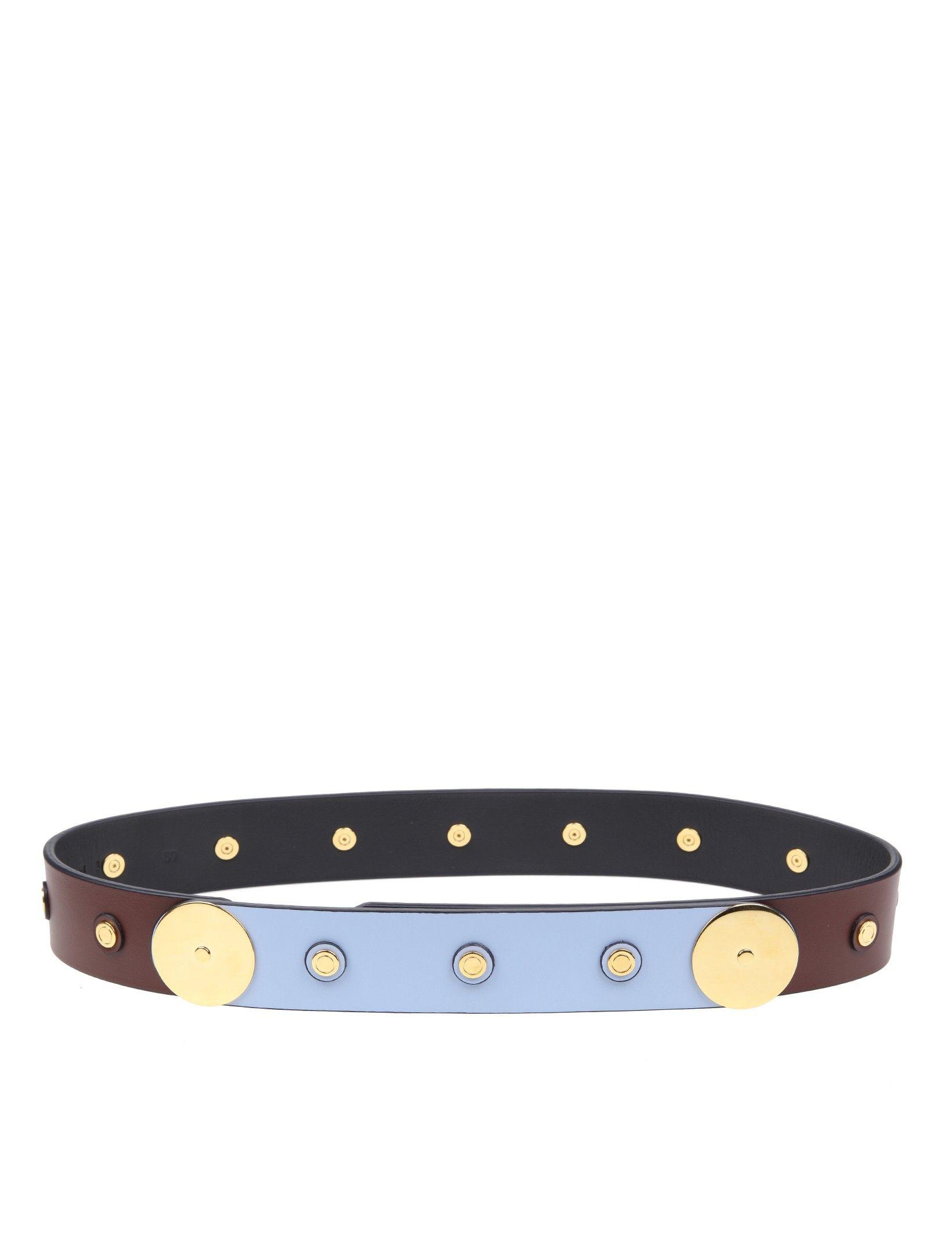Marni Brown Leather Belt