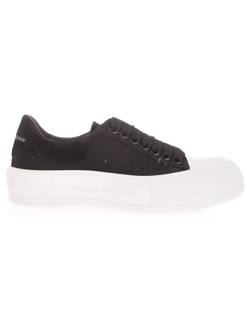 Alexander Mcqueen ALEXANDER MCQUEEN WOMEN'S BLACK OTHER MATERIALS SNEAKERS