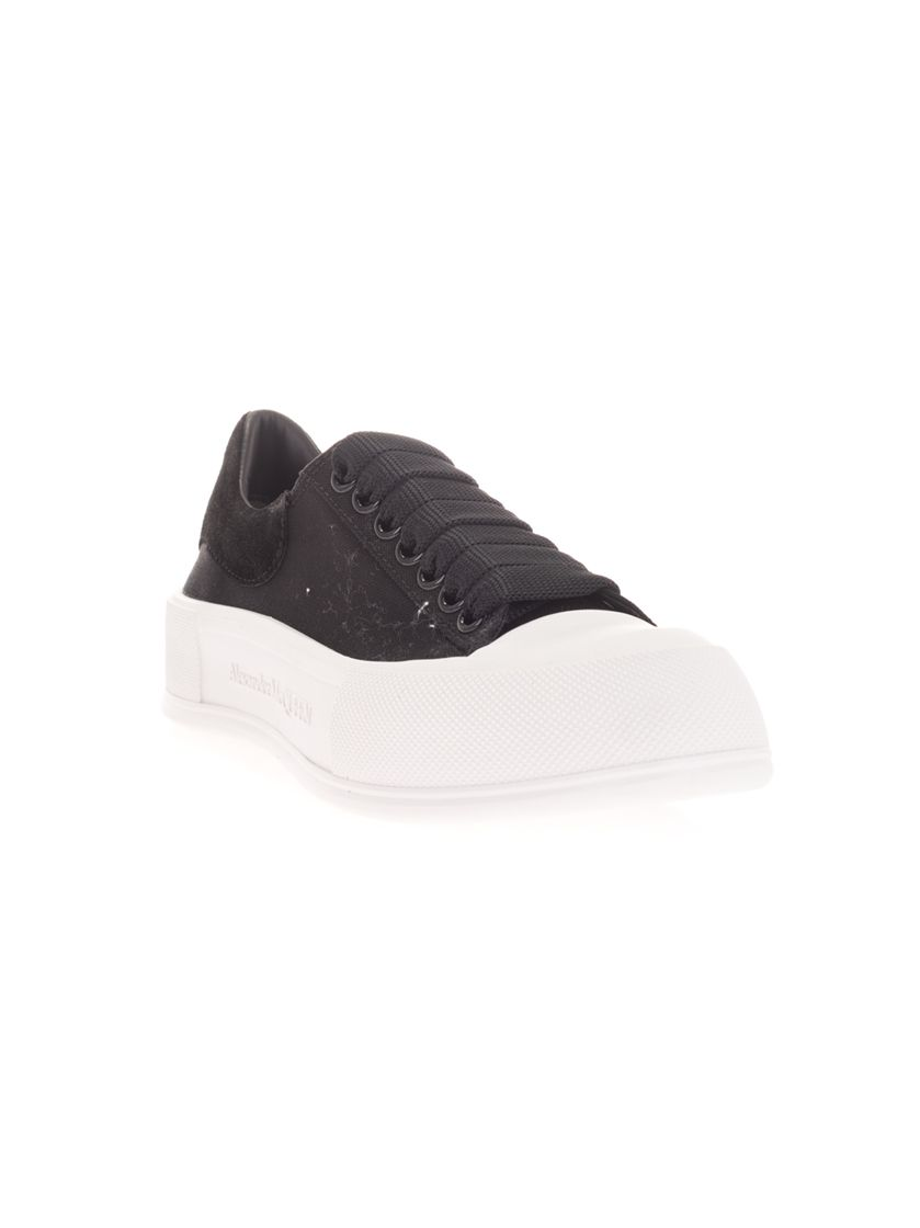 ALEXANDER MCQUEEN Sneakers ALEXANDER MCQUEEN WOMEN'S BLACK OTHER MATERIALS SNEAKERS