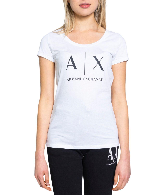 Armani Exchange ARMANI EXCHANGE WOMEN'S WHITE COTTON T-SHIRT