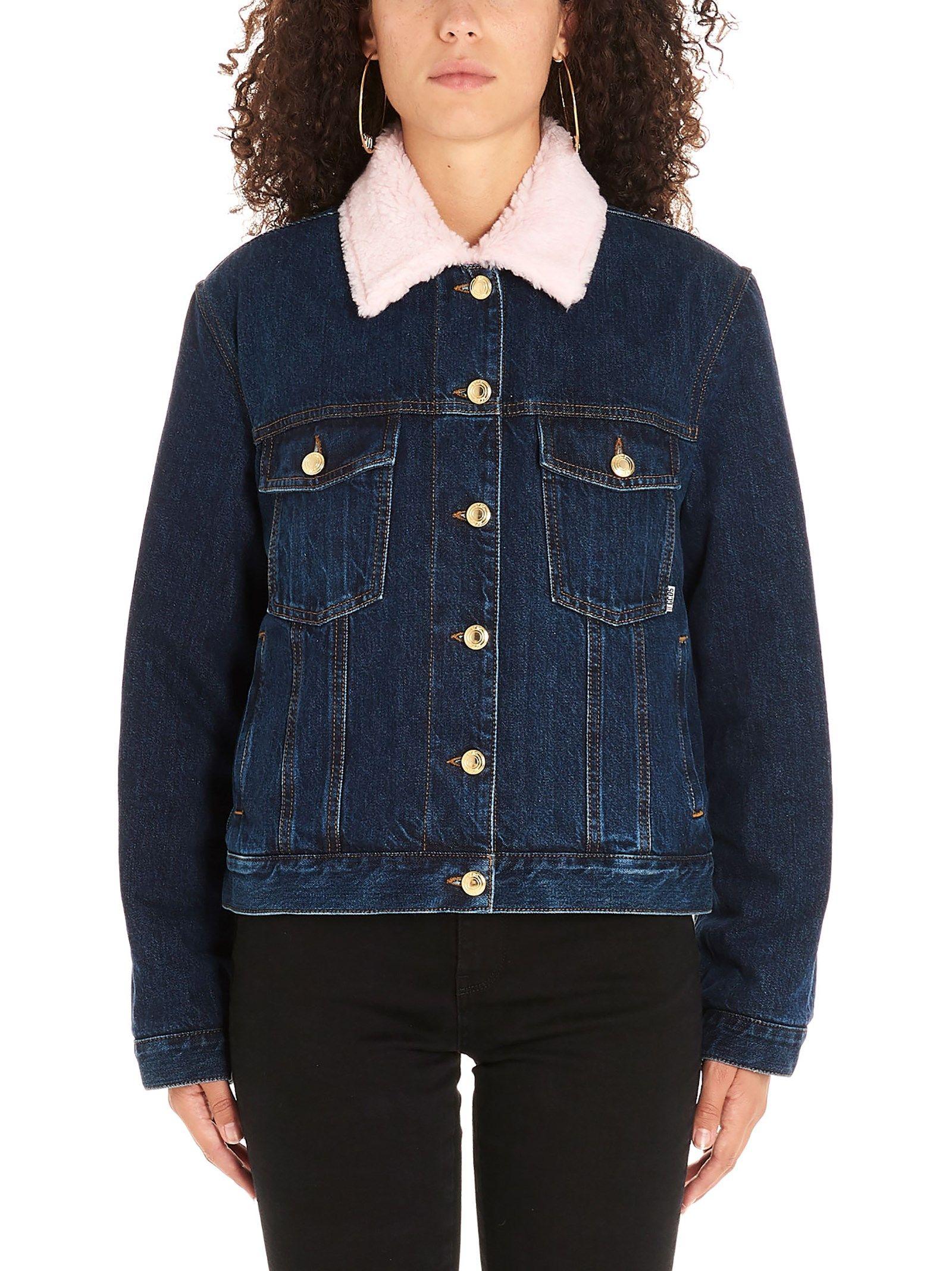 Gcds Blue Cotton Outerwear Jacket
