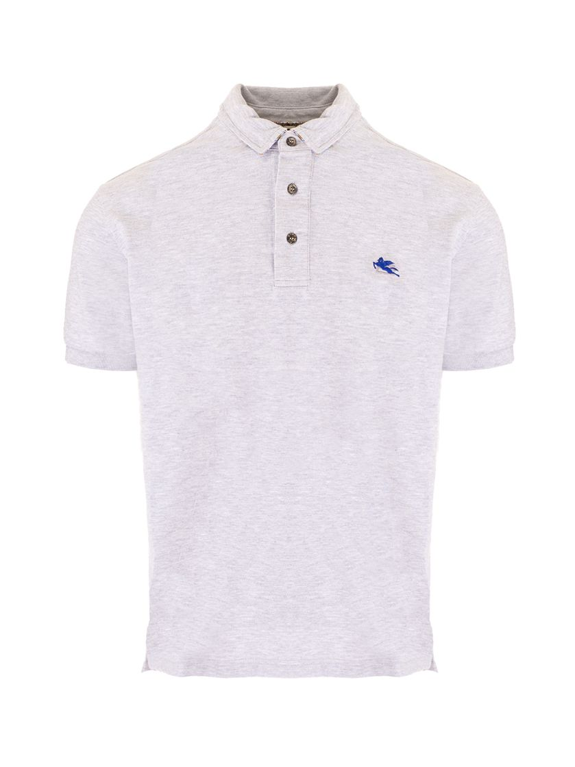 Etro ETRO MEN'S GREY OTHER MATERIALS POLO SHIRT