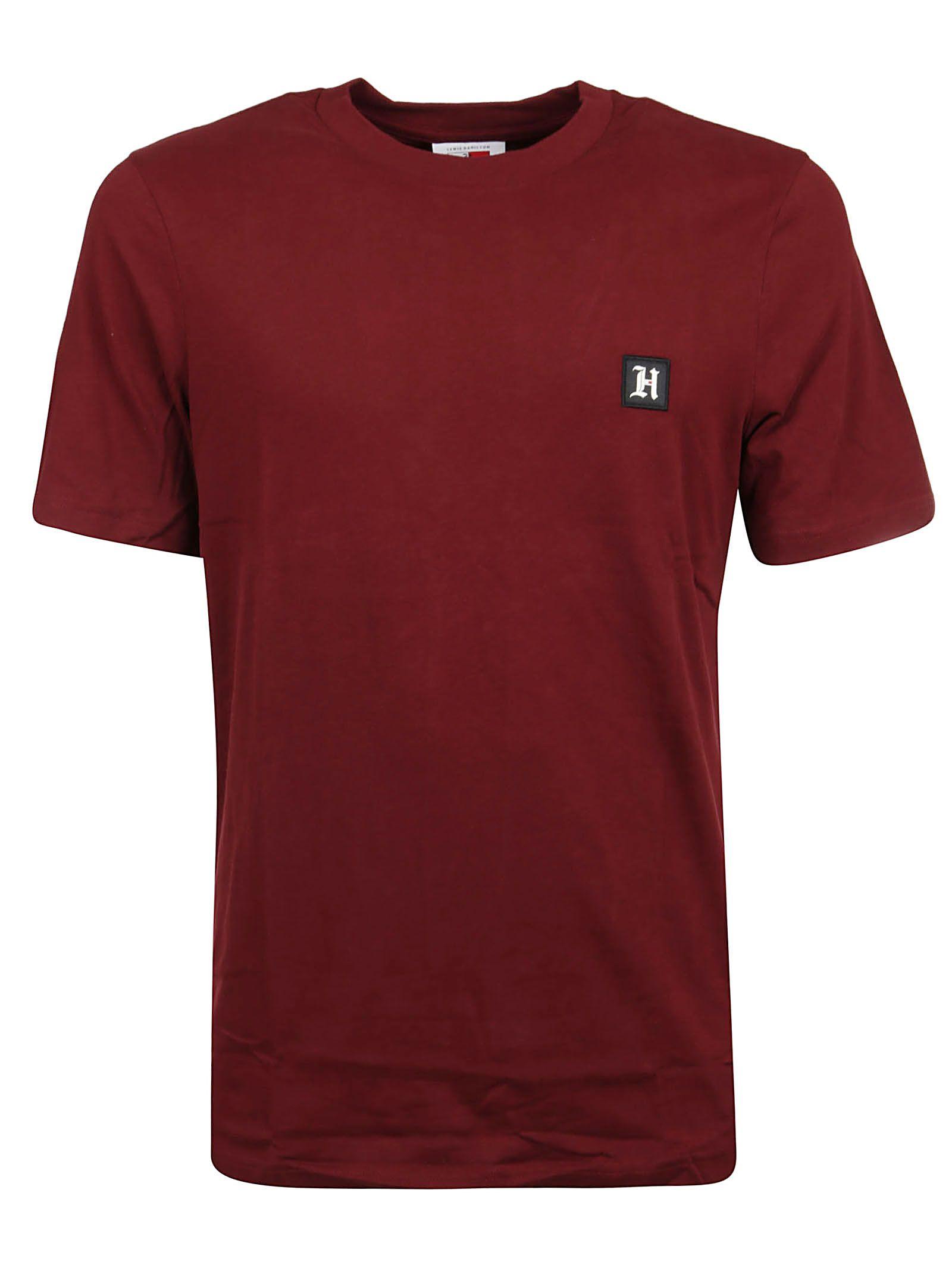 Tommy Hilfiger Burgundy Cotton T-shirt
