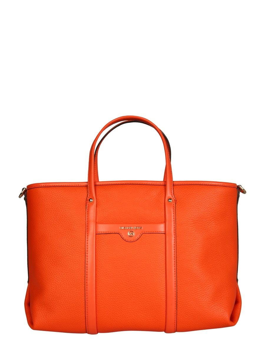 Michael Kors MICHAEL KORS WOMEN'S ORANGE LEATHER TOTE