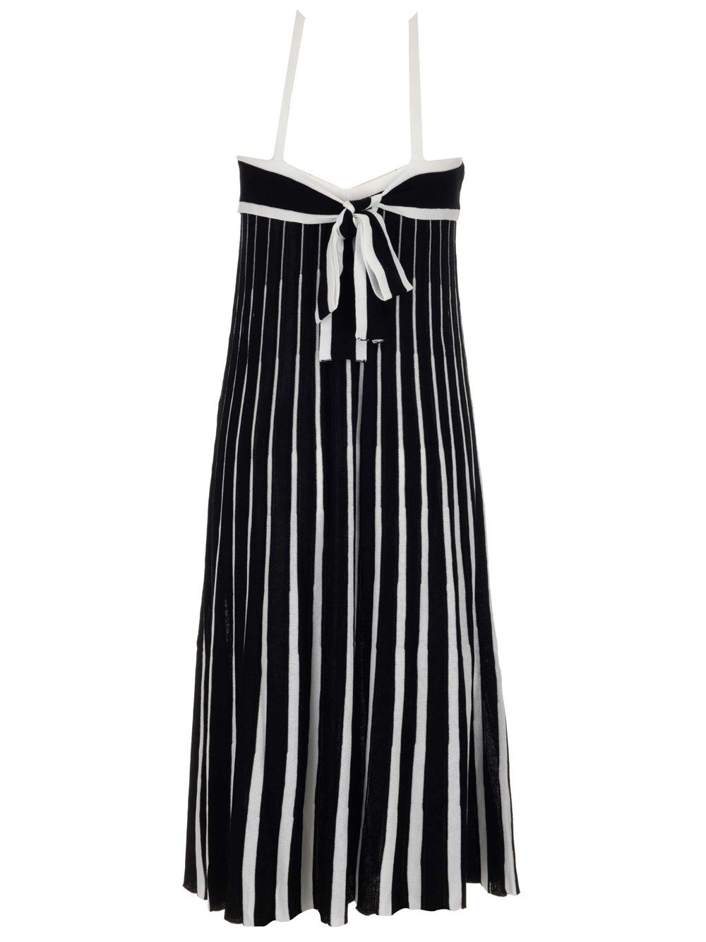 RED VALENTINO Cottons RED VALENTINO WOMEN'S BLACK OTHER MATERIALS DRESS