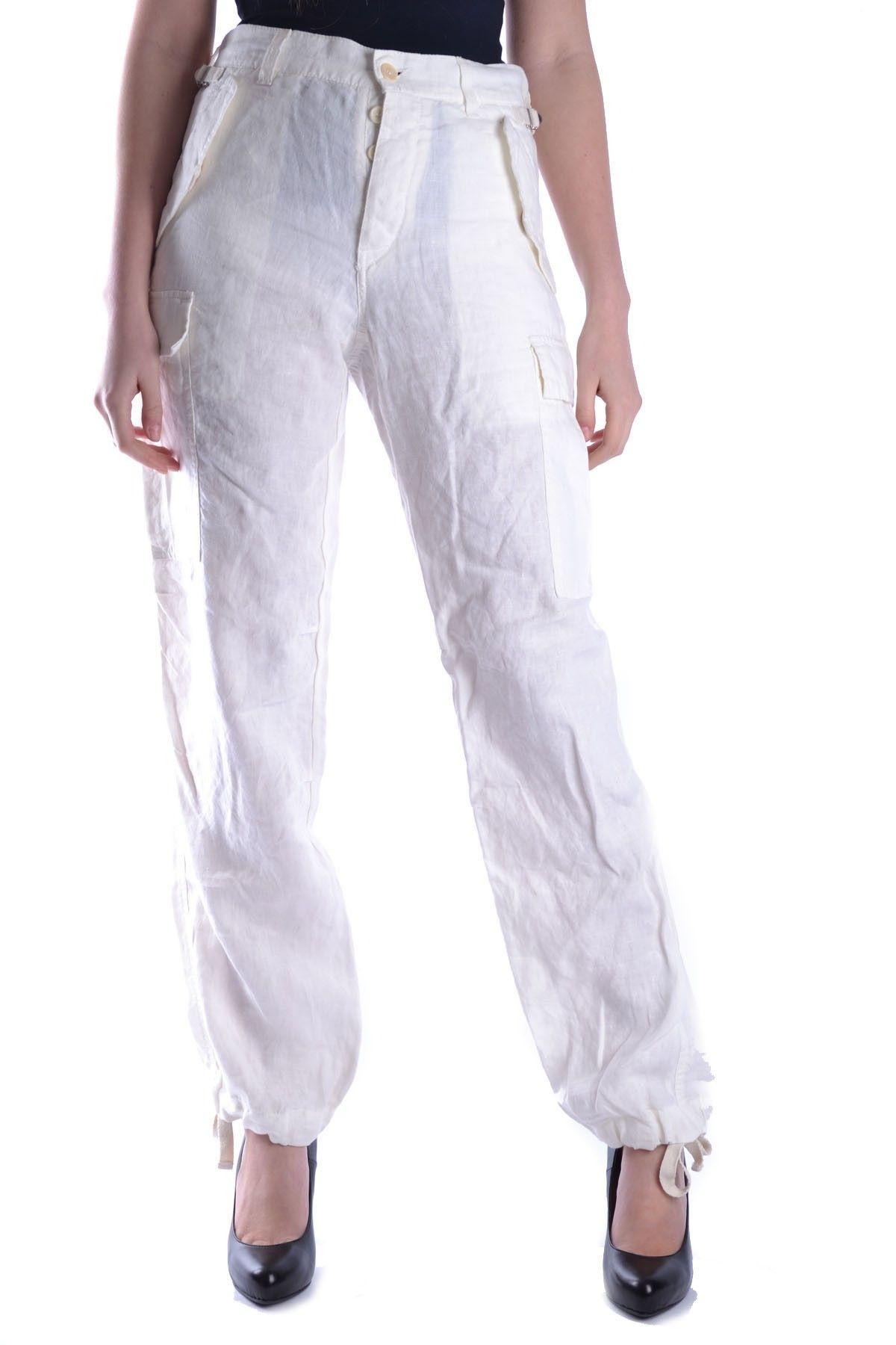 Yohji Yamamoto White Cotton Pants