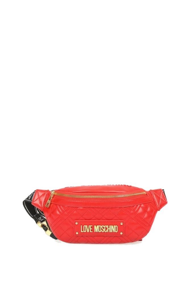 Moschino MOSCHINO WOMEN'S RED POLYURETHANE BELT BAG