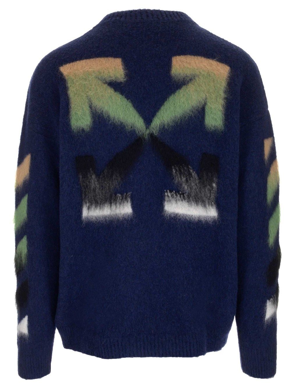 OFF-WHITE Sweaters OFF-WHITE MEN'S BLUE OTHER MATERIALS SWEATER