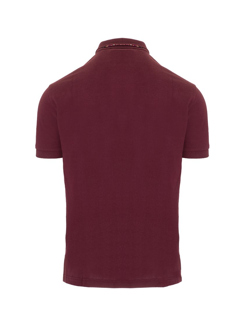 ETRO Shirts ETRO MEN'S BURGUNDY OTHER MATERIALS POLO SHIRT
