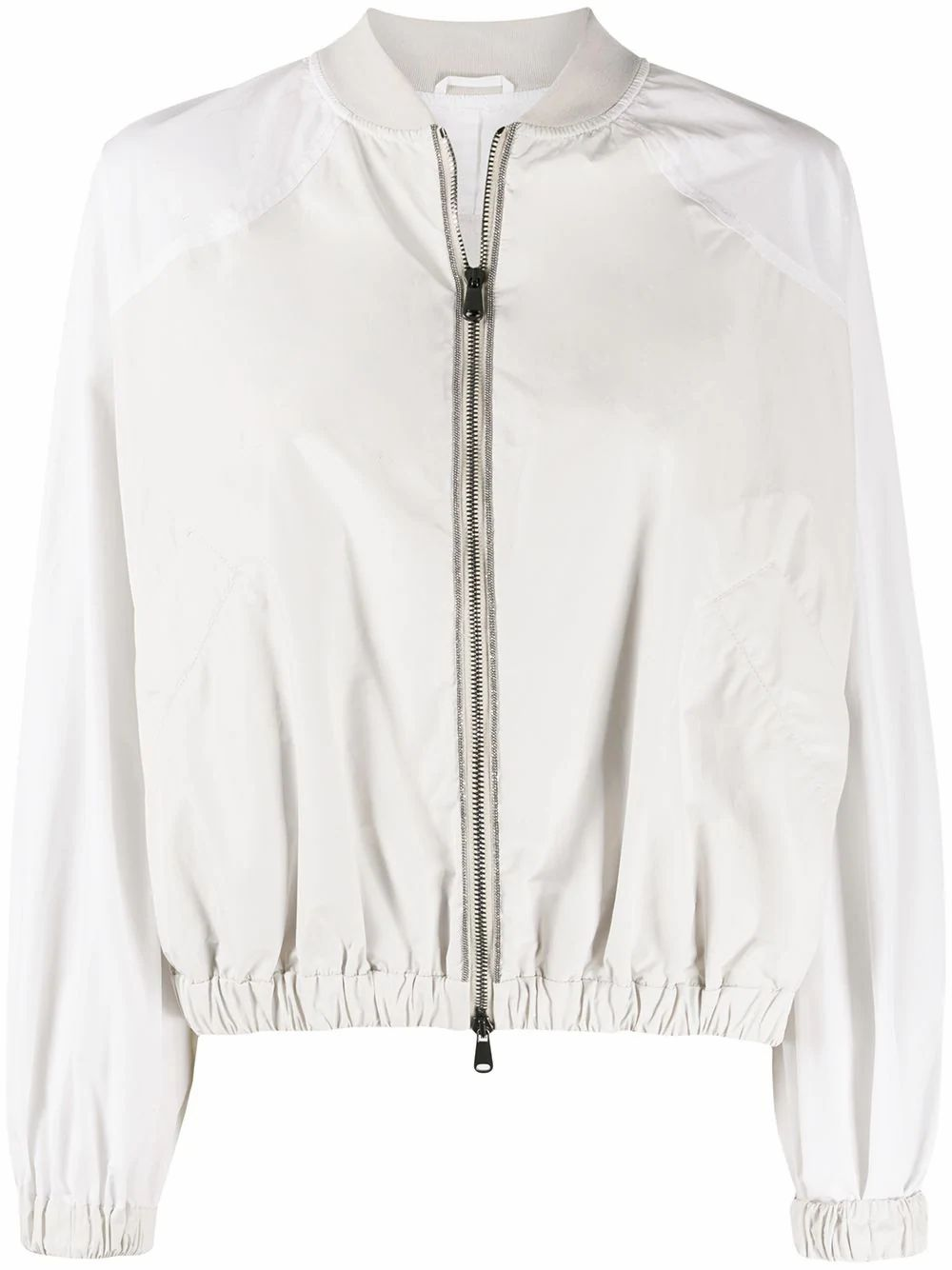 Brunello Cucinelli BRUNELLO CUCINELLI WOMEN'S WHITE POLYESTER OUTERWEAR JACKET