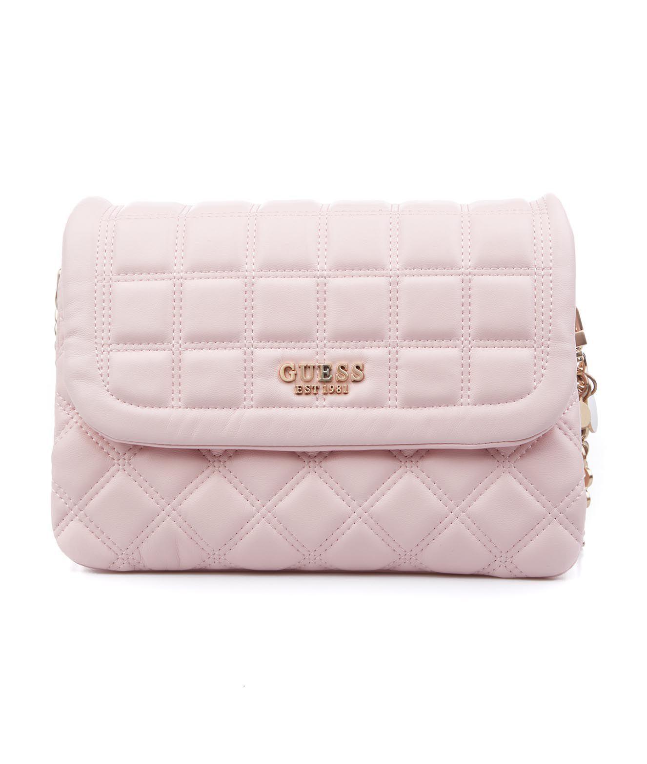 Guess GUESS WOMEN'S PINK OTHER MATERIALS SHOULDER BAG