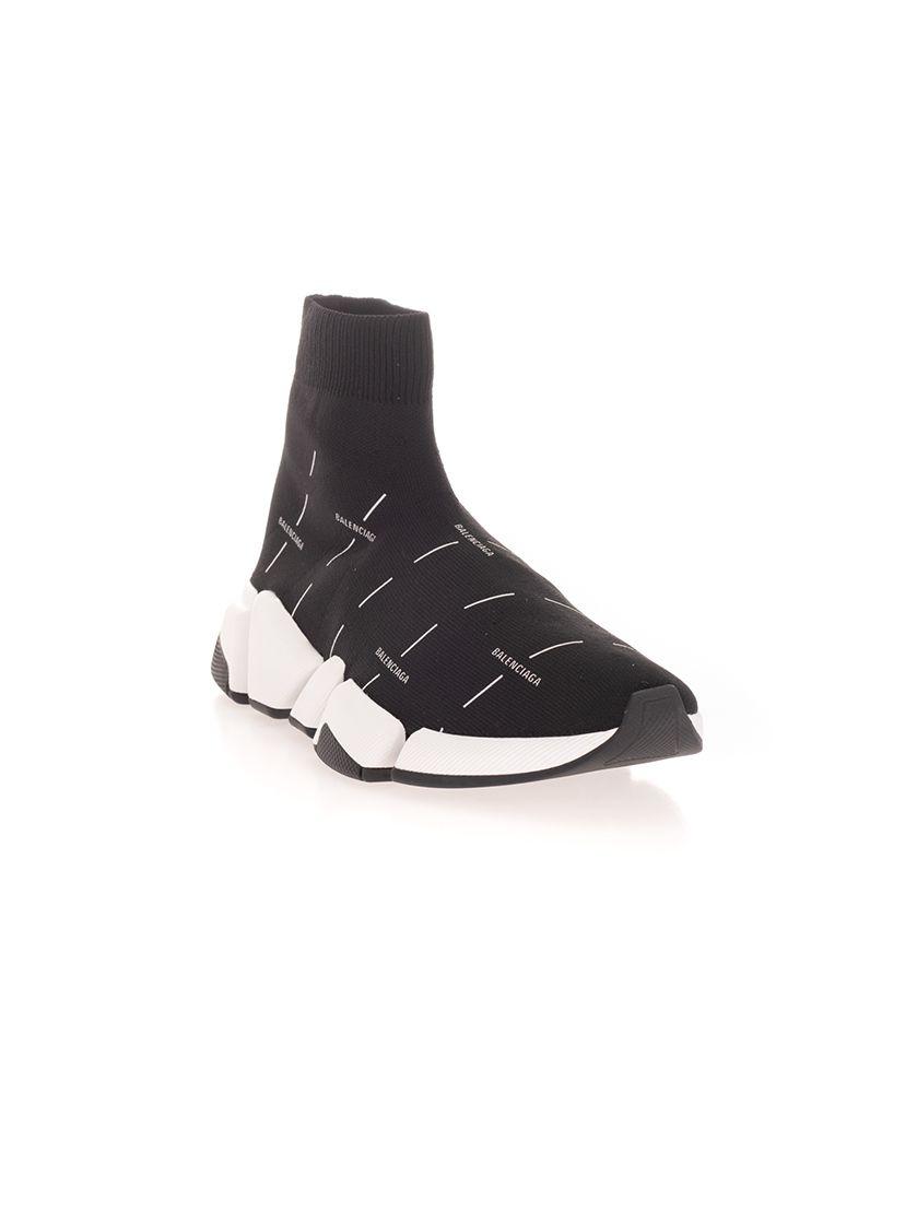 BALENCIAGA Sneakers BALENCIAGA WOMEN'S BLACK SYNTHETIC FIBERS HI TOP SNEAKERS