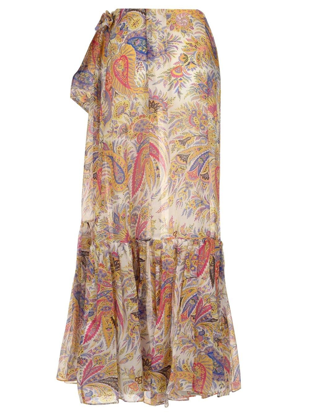 ETRO Cottons ETRO WOMEN'S MULTICOLOR OTHER MATERIALS SKIRT