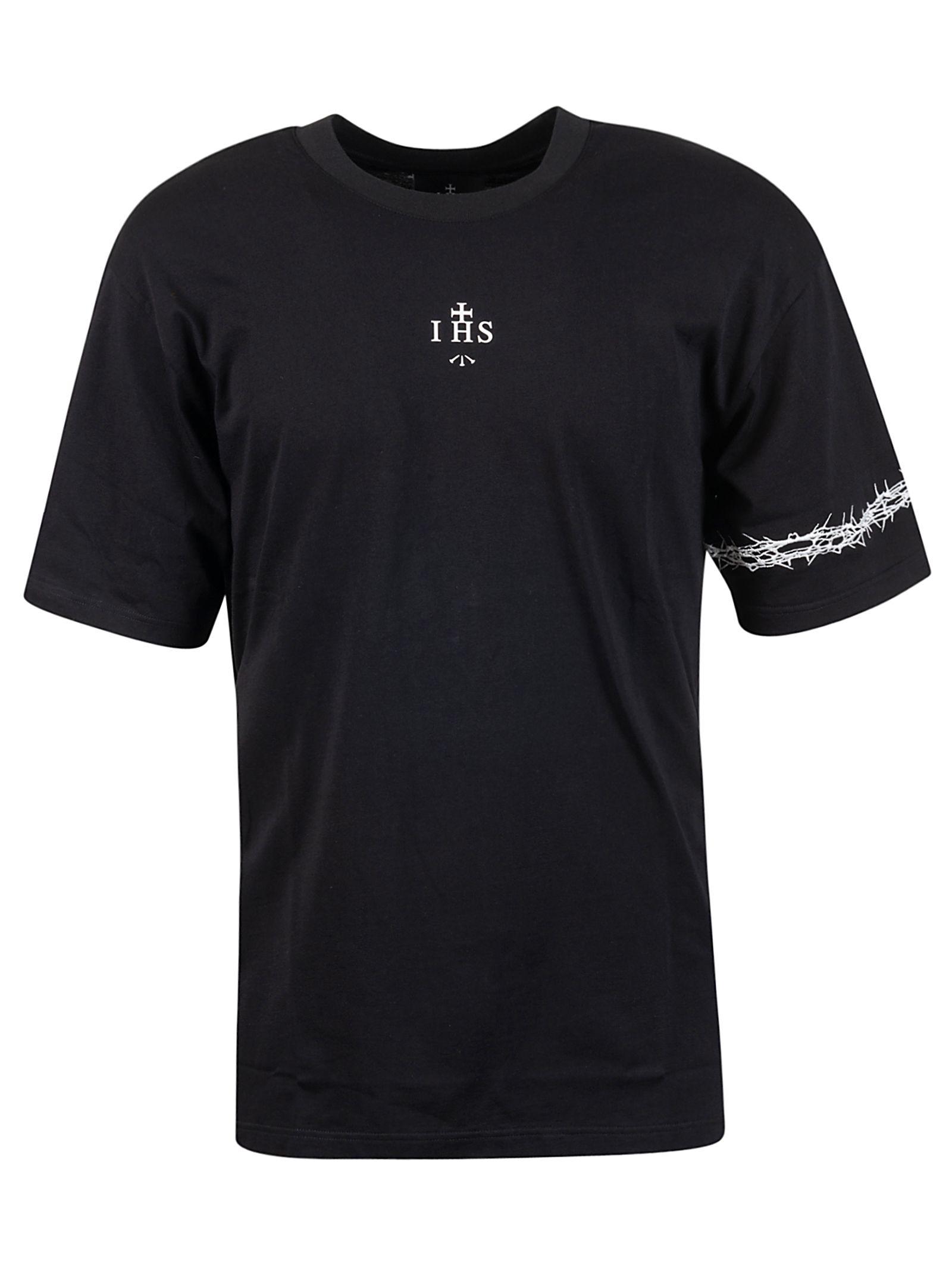 Ihs Black Cotton T-shirt