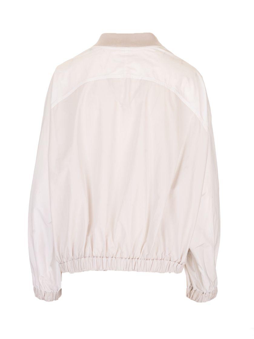 BRUNELLO CUCINELLI Jackets BRUNELLO CUCINELLI WOMEN'S WHITE POLYESTER OUTERWEAR JACKET