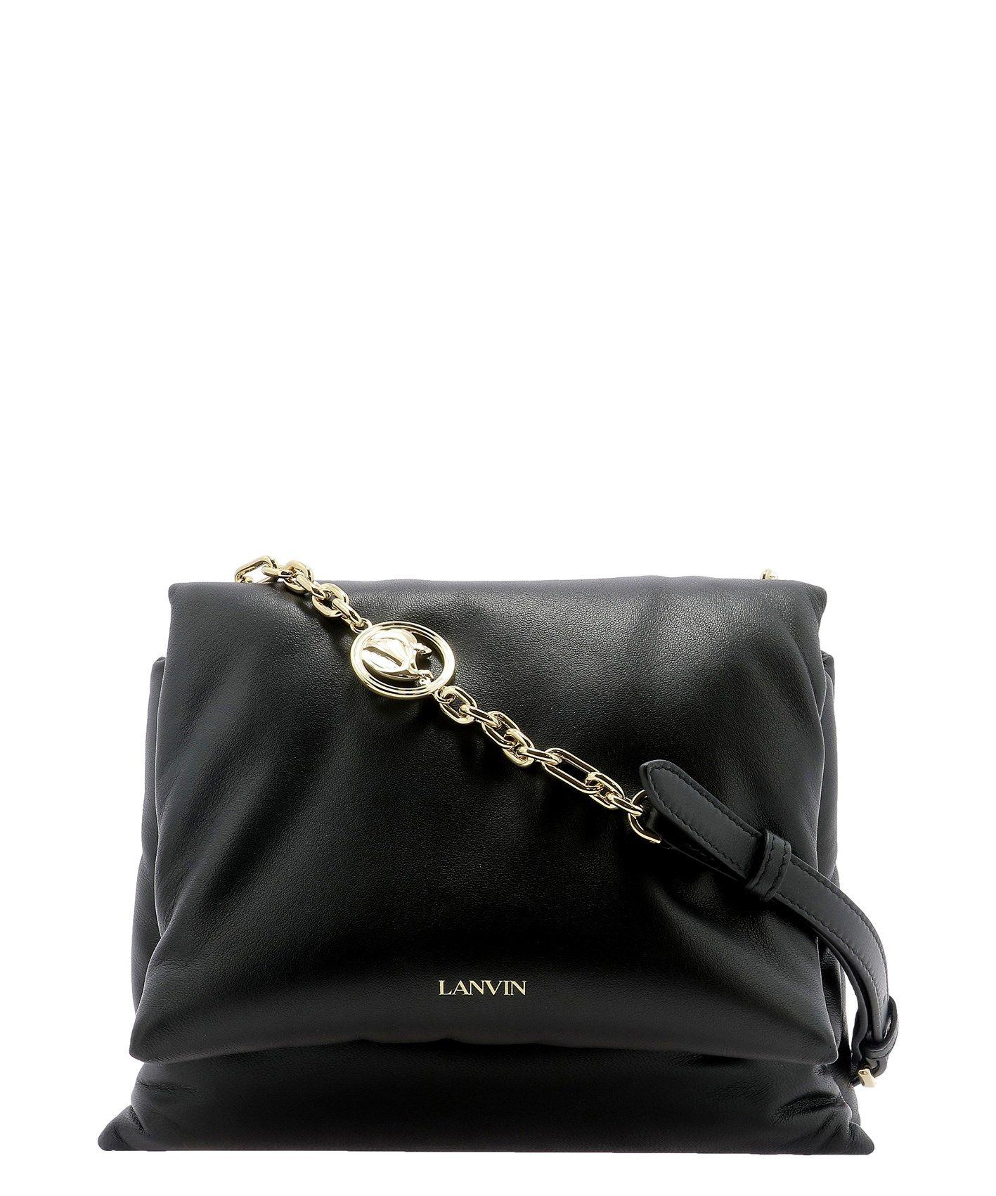 Lanvin LANVIN WOMEN'S BLACK OTHER MATERIALS SHOULDER BAG