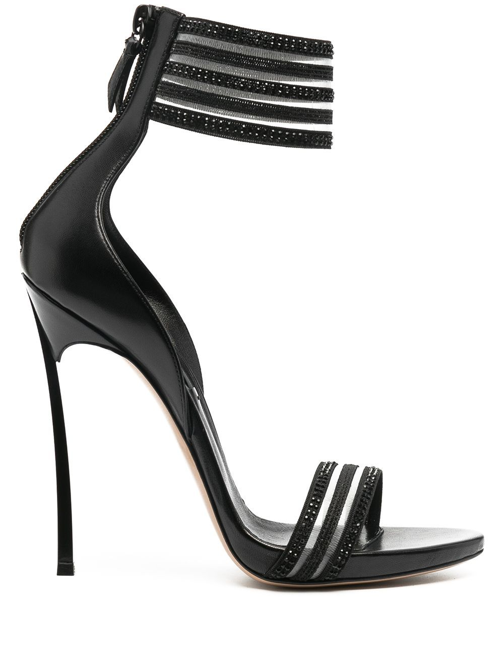 Casadei CASADEI WOMEN'S BLACK LEATHER SANDALS