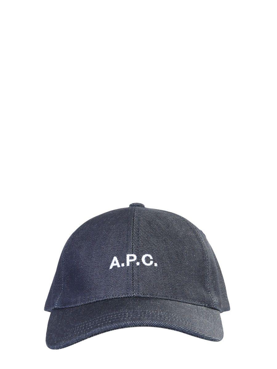 A.p.c. A.P.C. MEN'S BLUE COTTON HAT