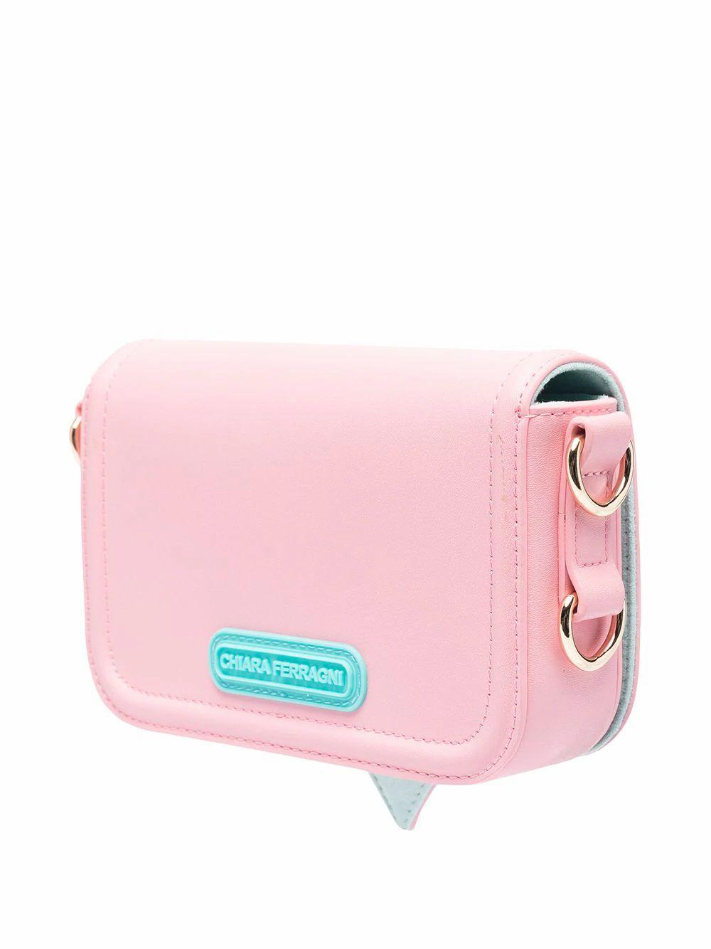 CHIARA FERRAGNI Shoulder bags CHIARA FERRAGNI WOMEN'S PINK POLYURETHANE SHOULDER BAG