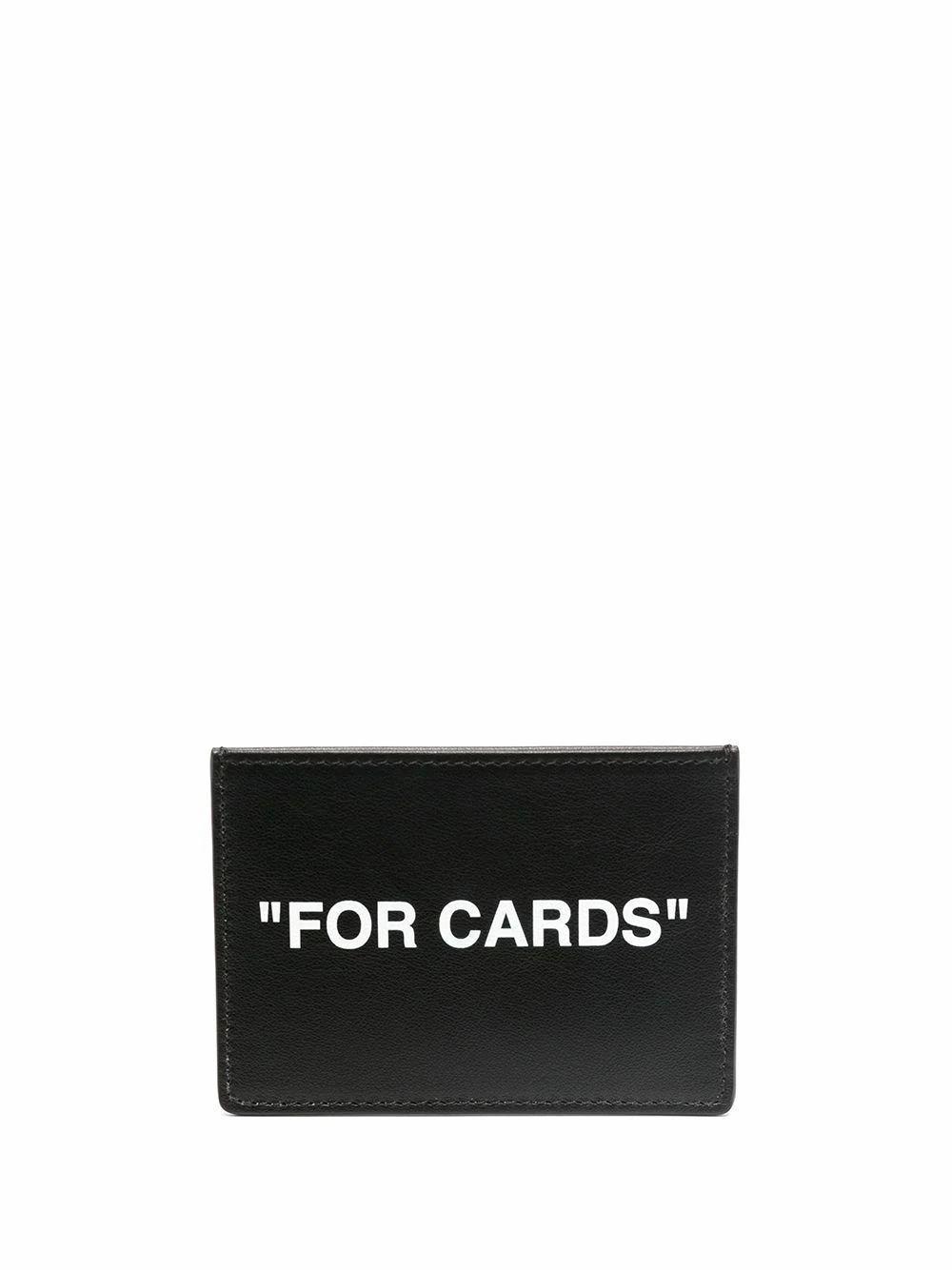Off-White OFF-WHITE MEN'S BLACK LEATHER CARD HOLDER