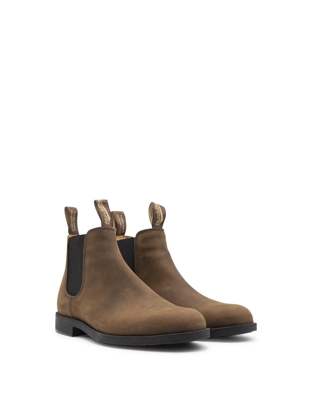 BLUNDSTONE Leathers BLUNDSTONE MEN'S BROWN LEATHER ANKLE BOOTS