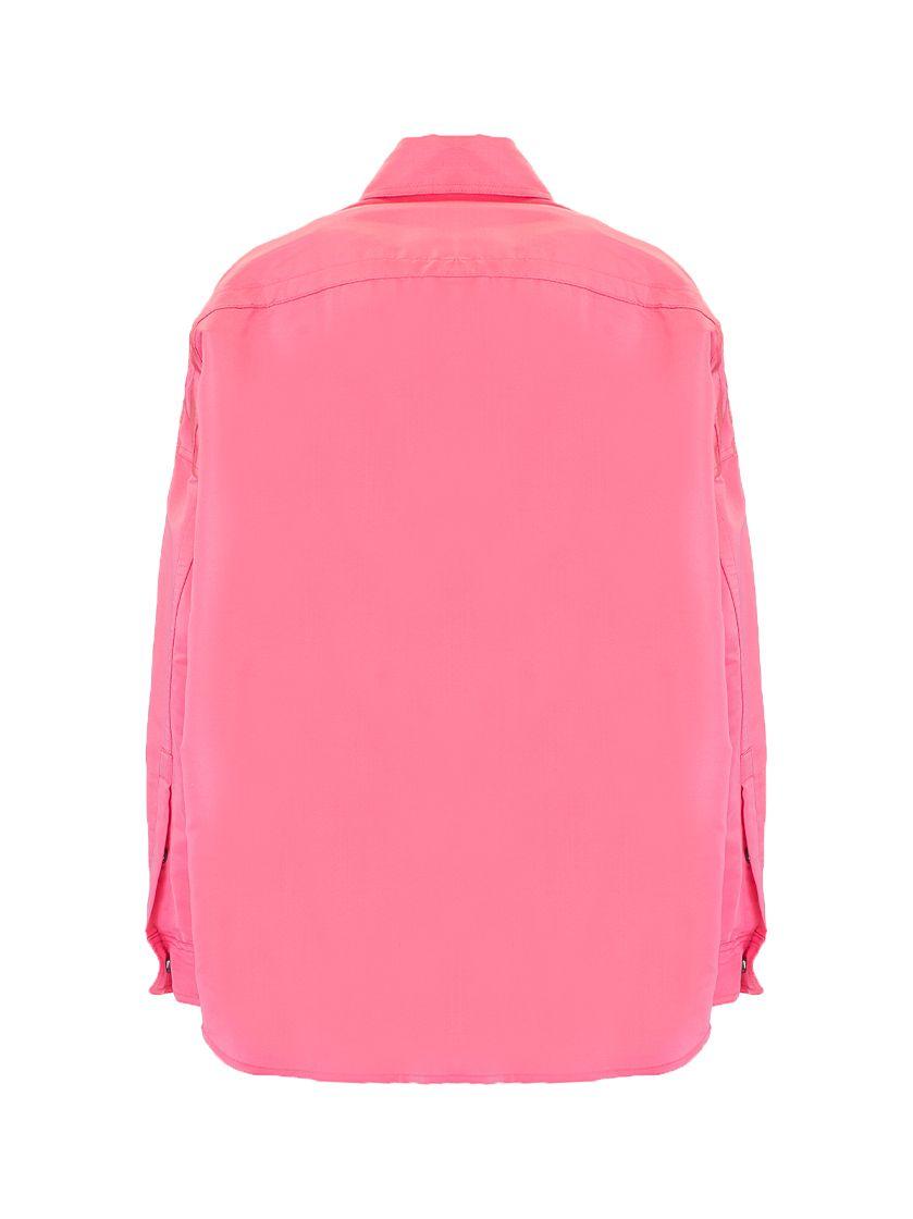 VALENTINO Jackets VALENTINO WOMEN'S FUCHSIA SILK SHIRT