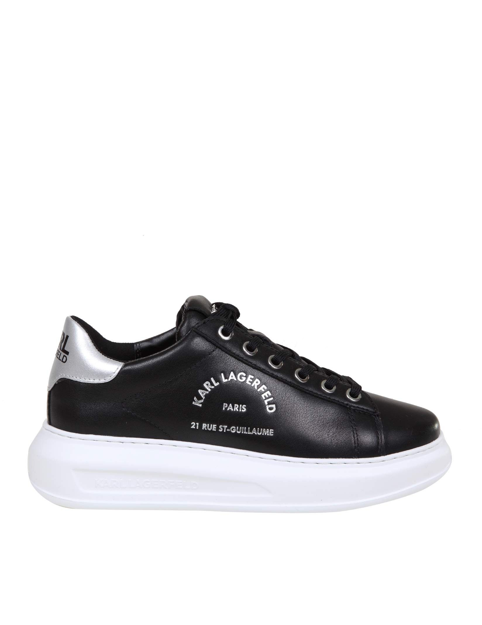 KARL LAGERFELD KARL LAGERFELD WOMEN'S BLACK LEATHER SNEAKERS