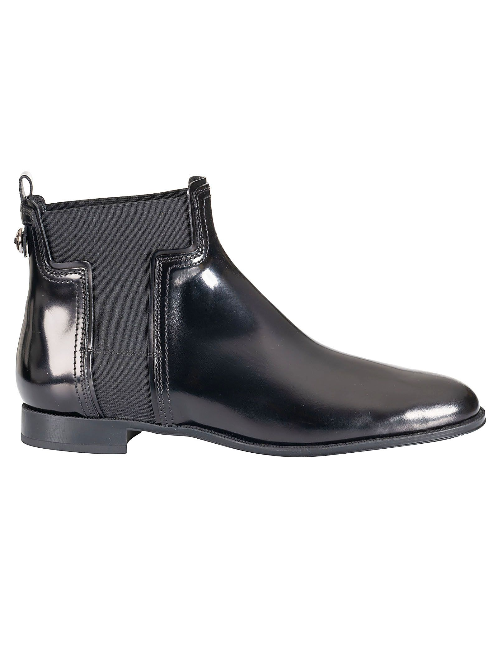 Tod's Leather Chelsea Ankle Boots In Black