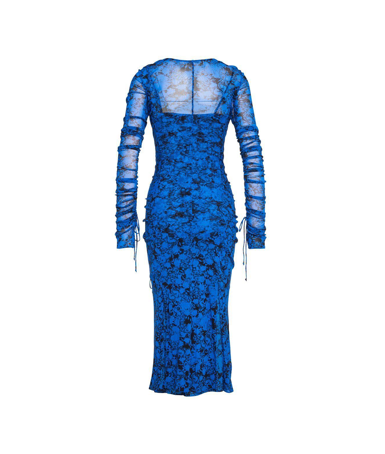 DIANE VON FURSTENBERG Dresses DIANE VON FURSTENBERG WOMEN'S BLUE OTHER MATERIALS DRESS