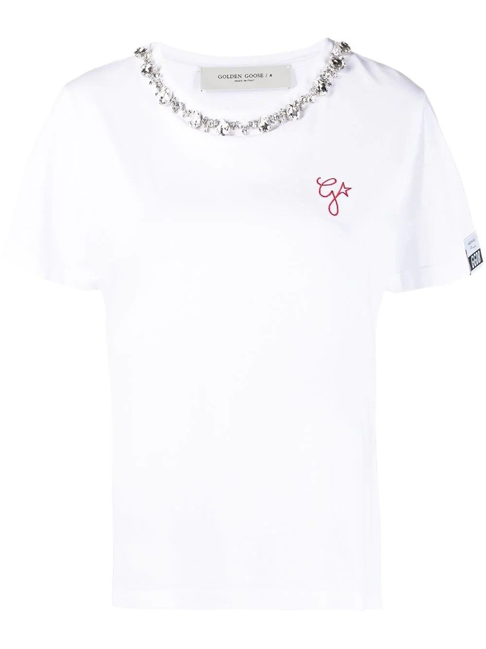Golden Goose GOLDEN GOOSE WOMEN'S WHITE COTTON T-SHIRT