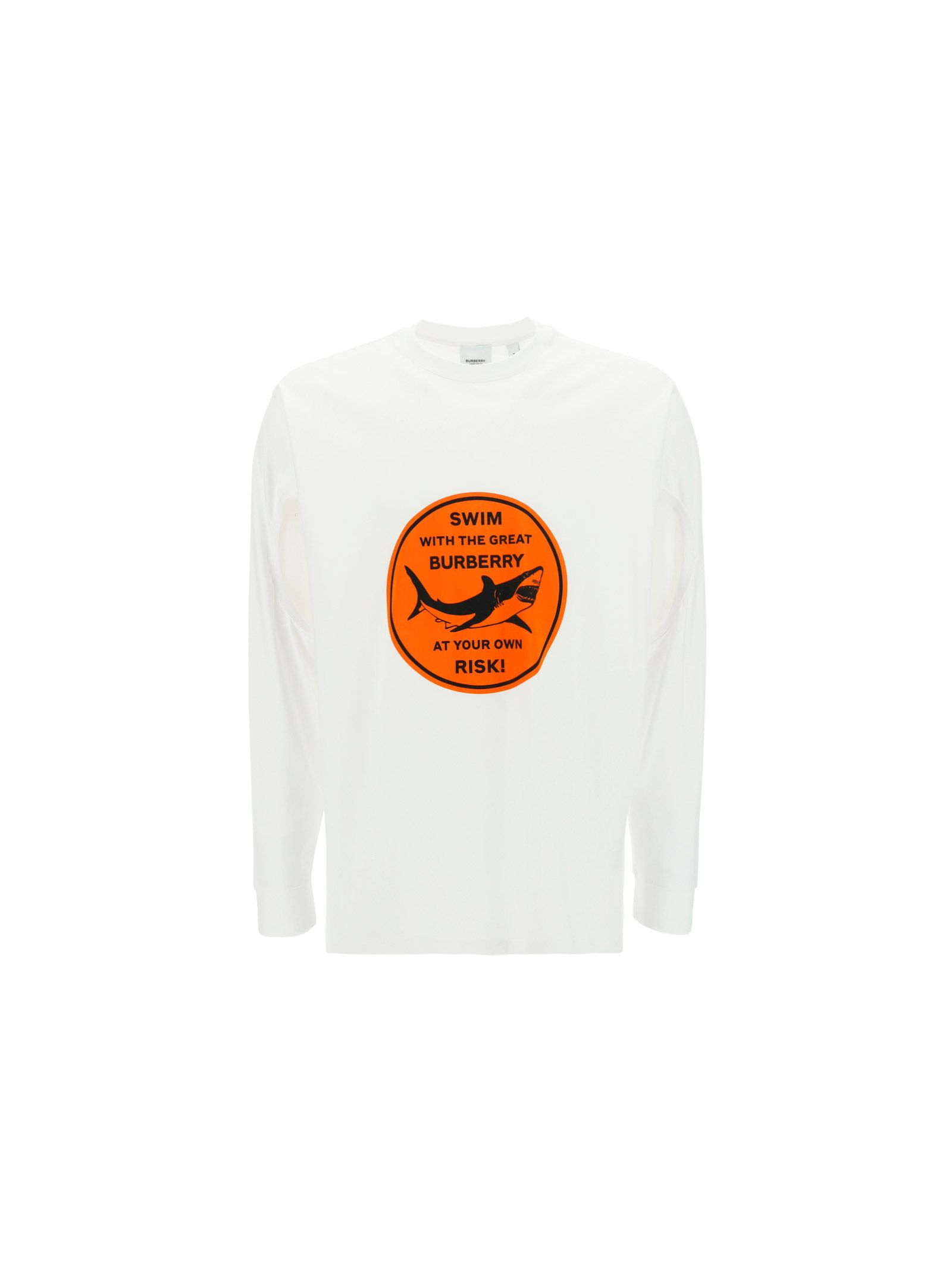 Burberry Cottons BURBERRY MEN'S WHITE OTHER MATERIALS SWEATSHIRT