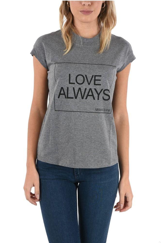 Armani Jeans ARMANI JEANS WOMEN'S GREY COTTON T-SHIRT