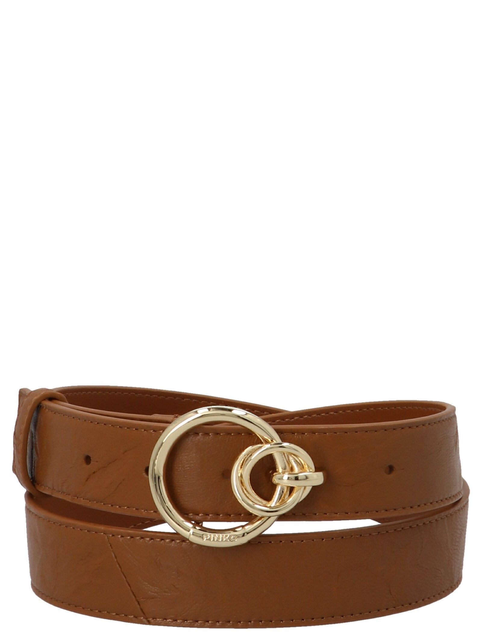 Pinko PINKO WOMEN'S BROWN OTHER MATERIALS BELT