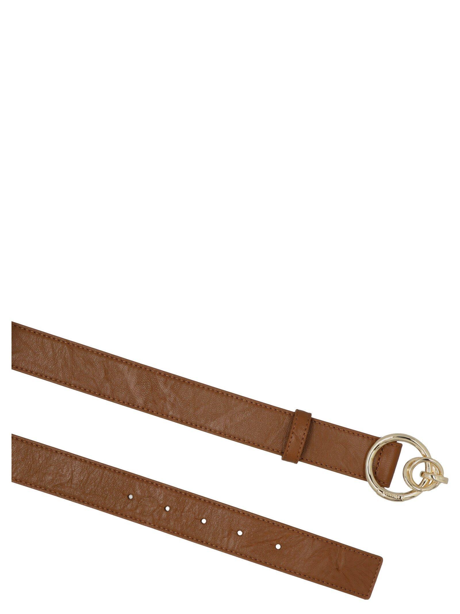PINKO Belts PINKO WOMEN'S BROWN OTHER MATERIALS BELT