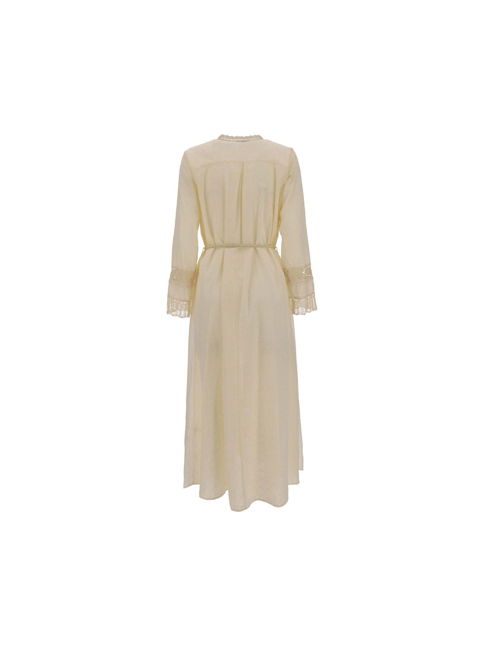 FORTE FORTE Midi dresses FORTE FORTE WOMEN'S BEIGE OTHER MATERIALS DRESS