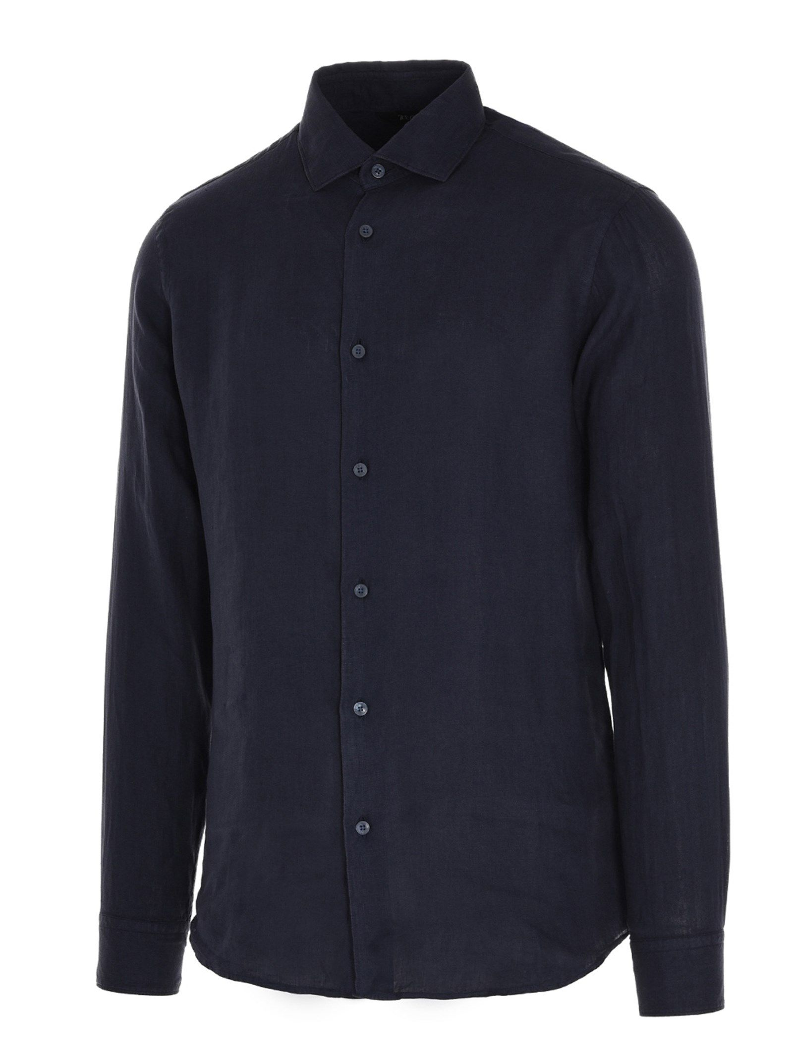 Z ZEGNA Shirts Z ZEGNA MEN'S BLUE OTHER MATERIALS SHIRT